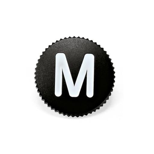 Soft Release Button 'M' 8mm Black