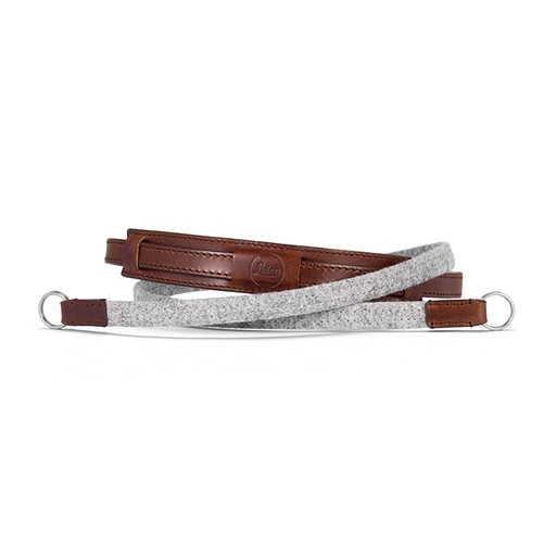 Neck Strap - Leather / Fabric  Grey CL