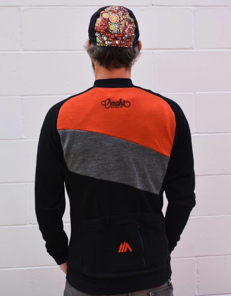 Cima Coppi OBC Merino Wool Full Zip Cycling Jersey