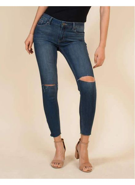 JUST BLACK Mid Rise Skinny w/ Ankle Zipper