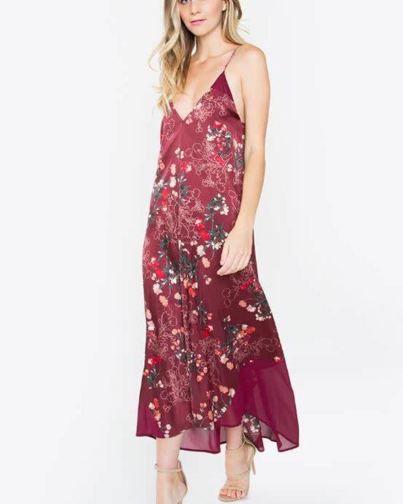 SUGAR + L!PS Quincy Printed Maxi Dress