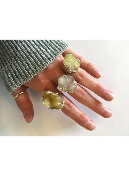 YOU FANCY, HUH? Large Gemstone Ring