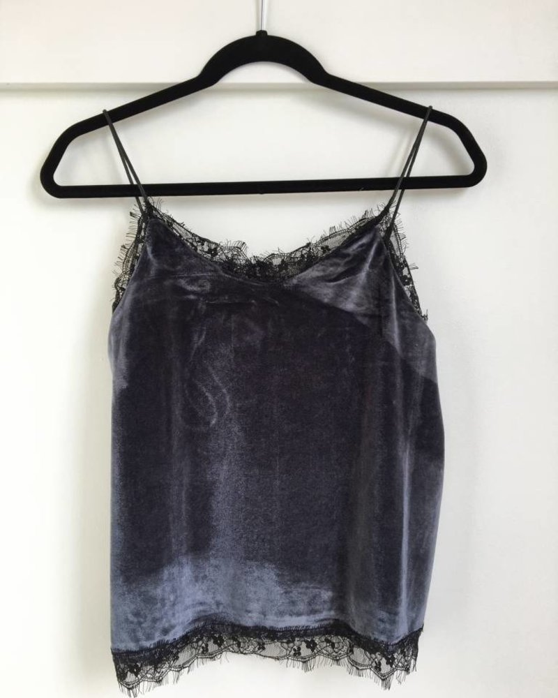 94edfced8011f Velvet Tank w  Lace Detailing - Thelma   Thistle