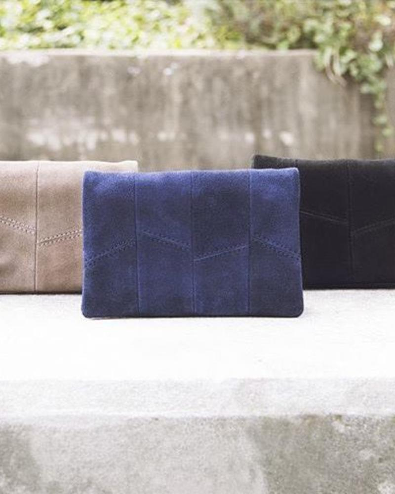 Street Level Suede Flap Over Mini Crossbody Clutch