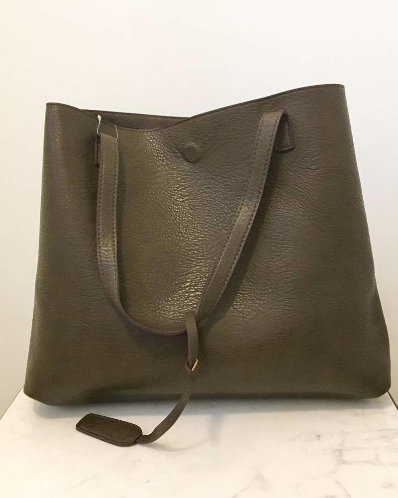 Street Level Olive Snack Reversible Tote