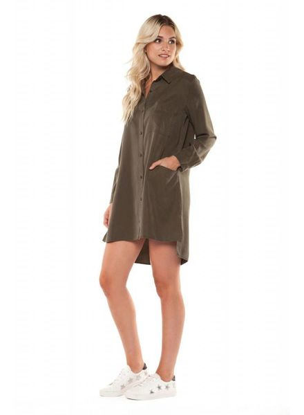 Black Tape/Dex Khaki Tunic Blouse