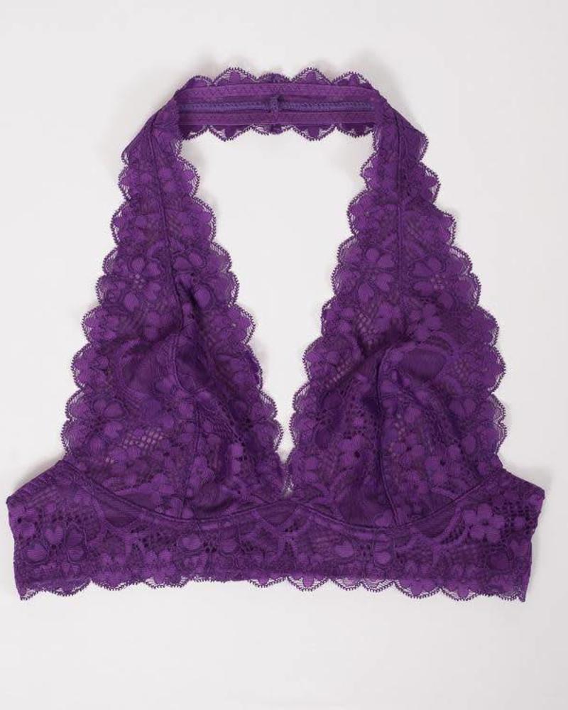 Free People Gallon Lace Halter | Dark Purple