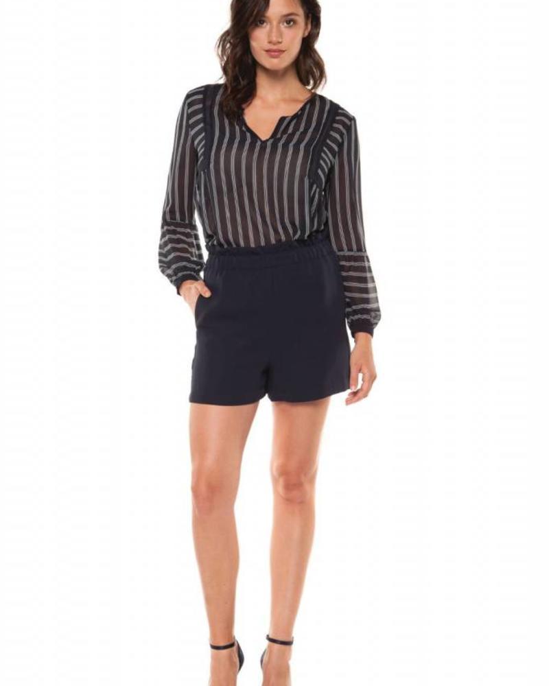 Black Tape/Dex Sew Striped Shirt