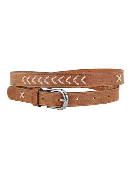 America Chevron Stitch Leather Belt | Two Colors