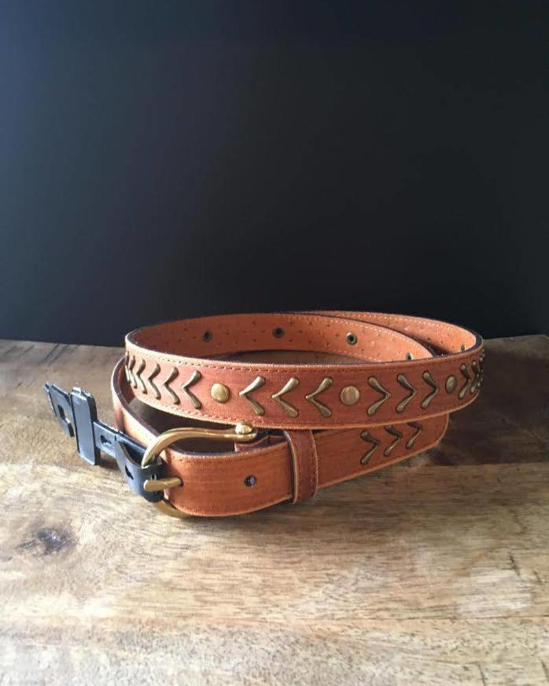 America Gold Arrow Leather Belt | Two Colors