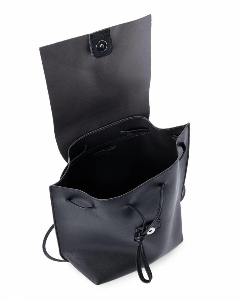 Street Level Black Slouchy Thin Backpack