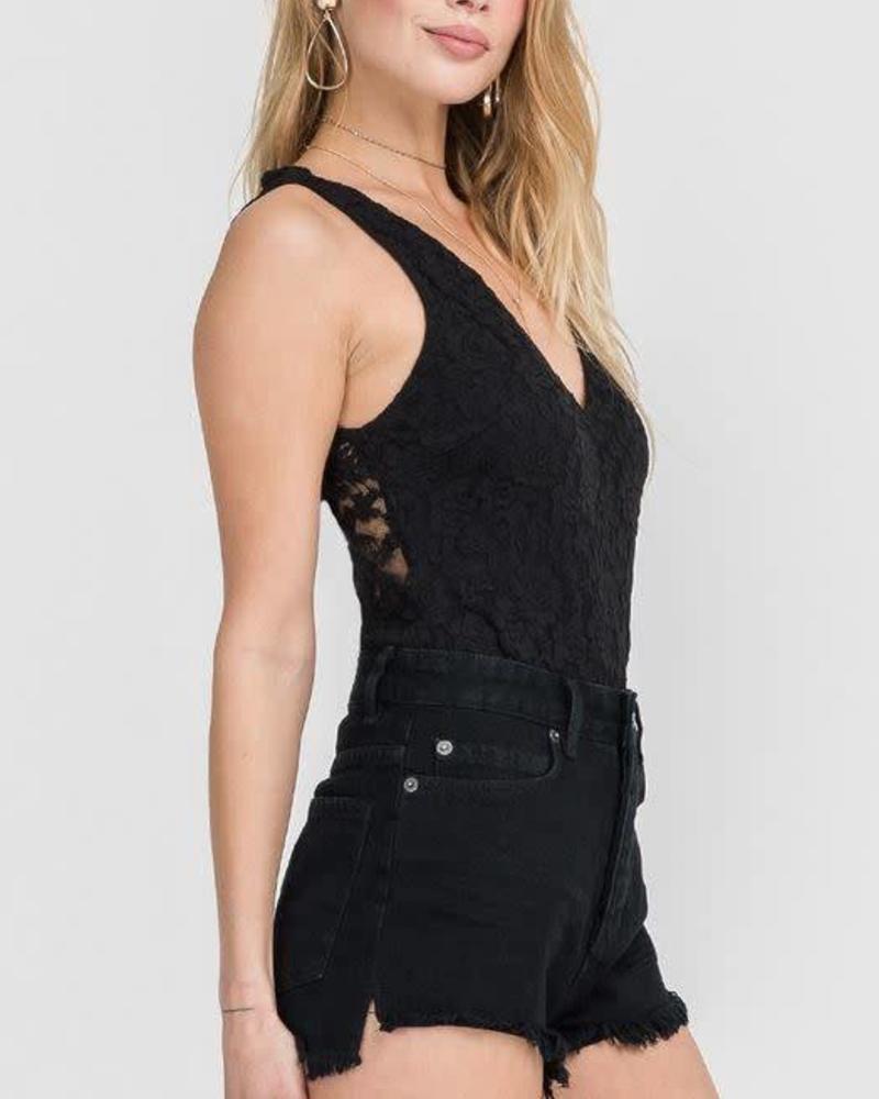 LUSH Lace Up Bodysuit