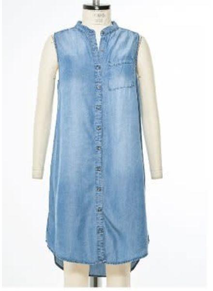 California Moonrise Denim Tunic Dress