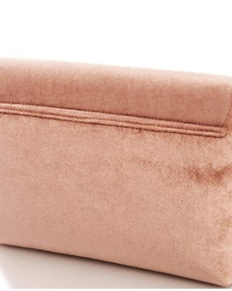 Street Level Blush Velvet Crossbody