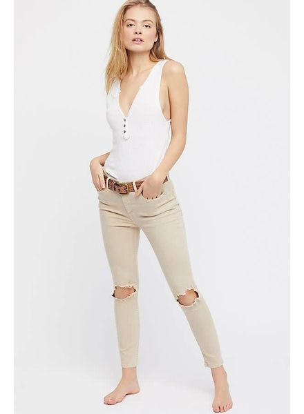 Free People High Rise Busted Skinny