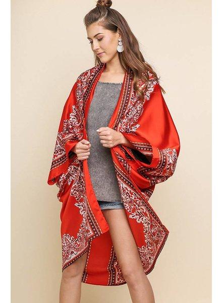 UMGEE Scarf Print Kimono