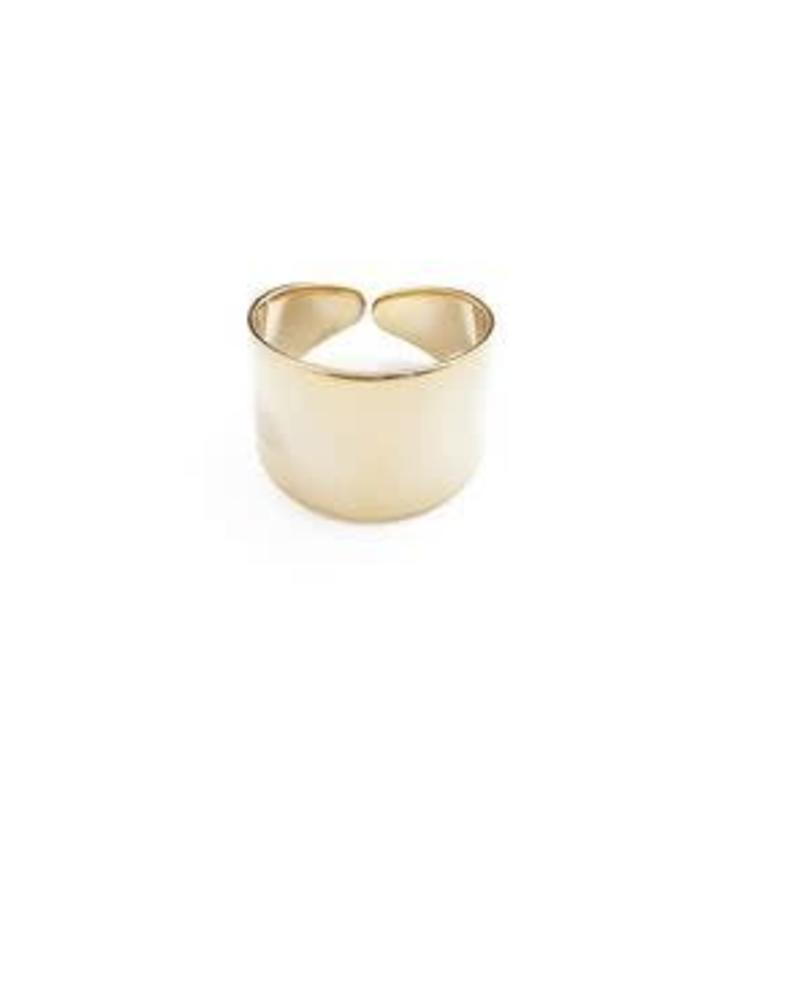 HONEYCAT Thick Wrap Ring / 24 Gold Plate