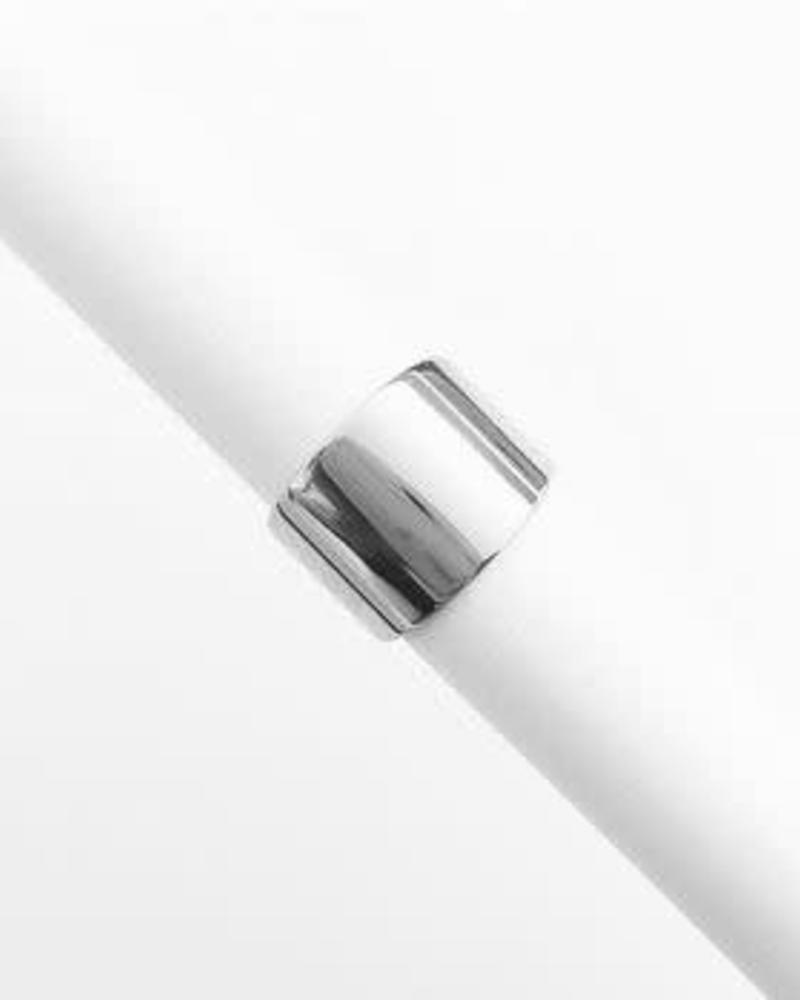 HONEYCAT Thick Wrap Ring / Sterling Plate