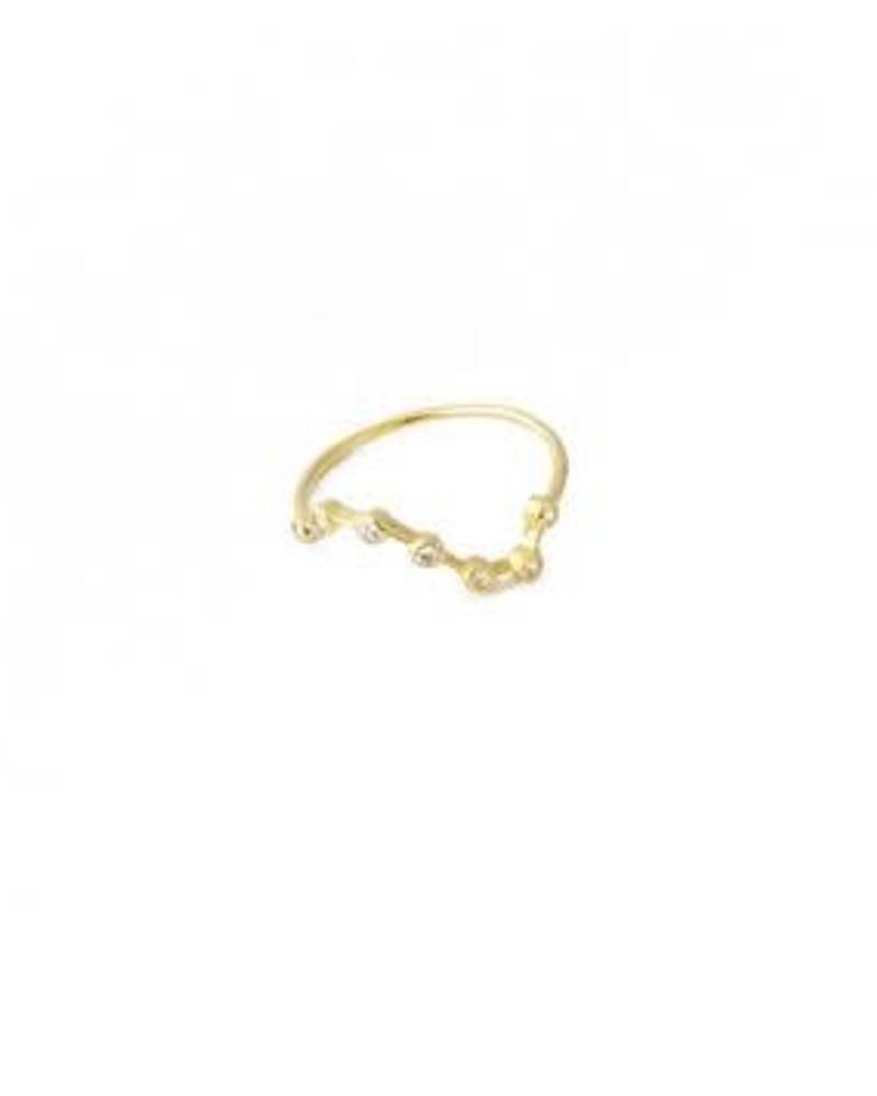 HONEYCAT Constellation Ring / 24 Gold Plate