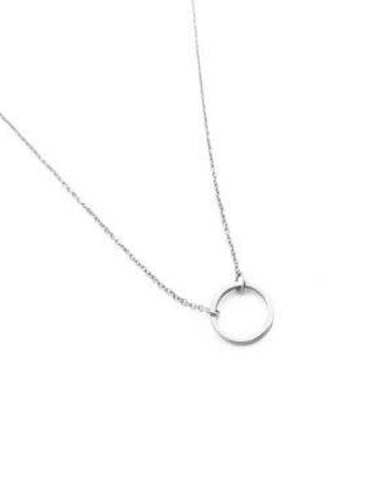 HONEYCAT Circle Necklace / Rhodium Plate