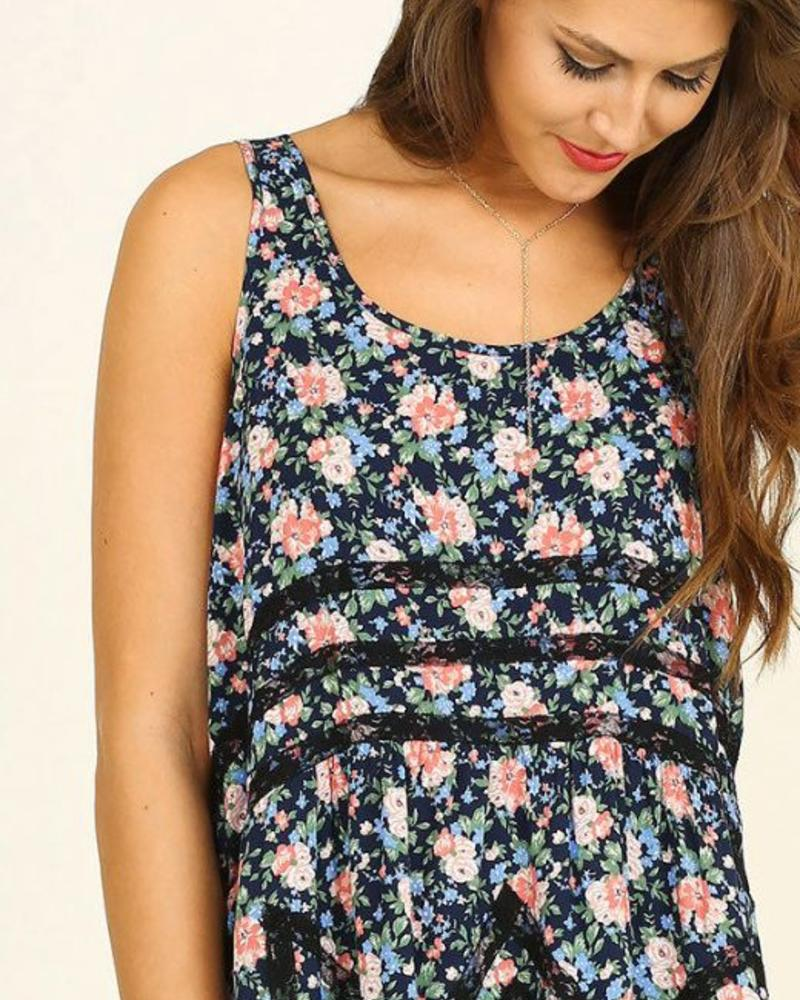 UMGEE Floral Tunic Top