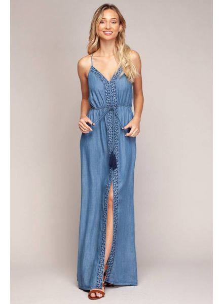 Naked Zebra Bella Embroidered Maxi Dress