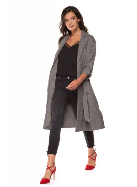 Black Tape/Dex Houndstooth Trench Coat