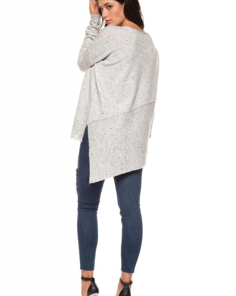 Black Tape/Dex Asymmetric Sweater