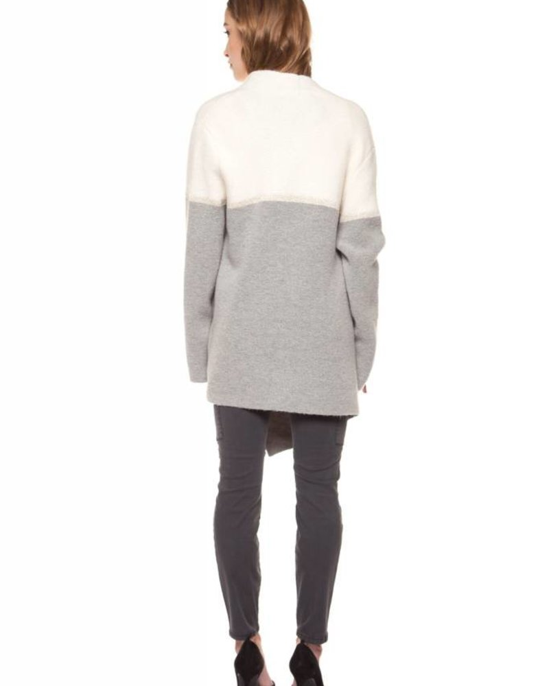 Black Tape/Dex Color Block Sweater