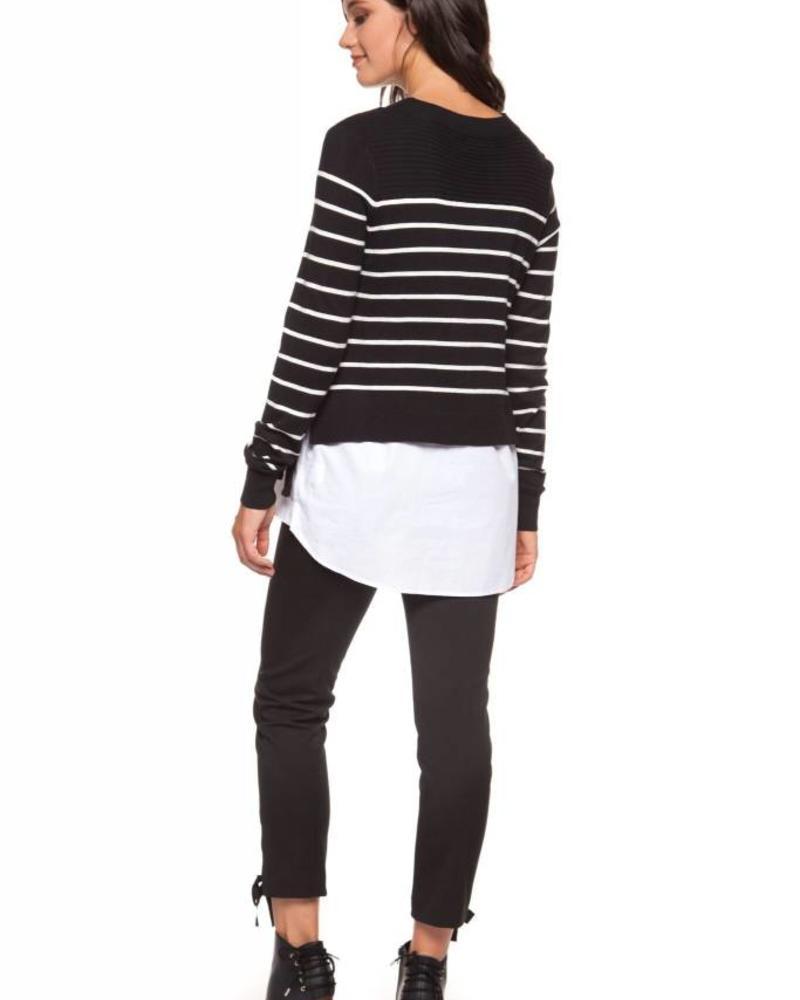 Black Tape/Dex Twofer Crewneck Sweater