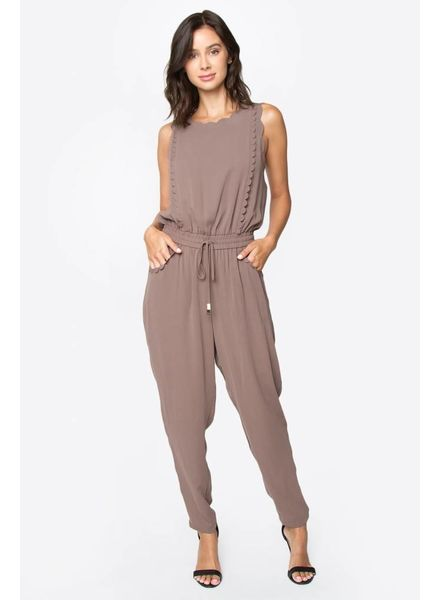 SUGAR + L!PS Scallop Jumpsuit