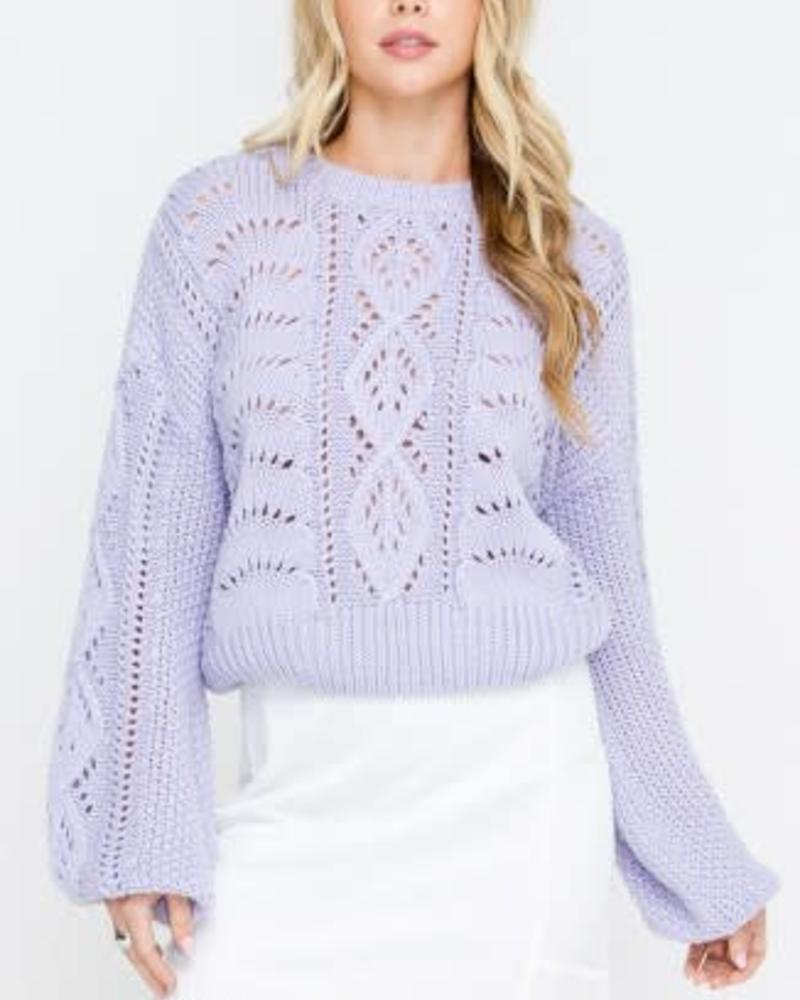 LUSH Cable Sweater