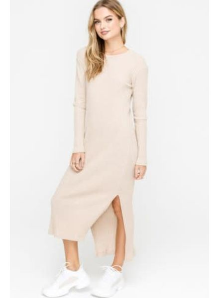 LUSH Ribbed Knit Dress