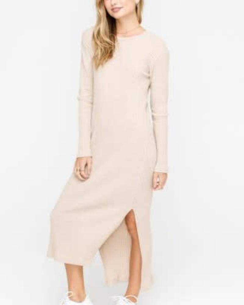 LUSH Ribbed Knit Dress