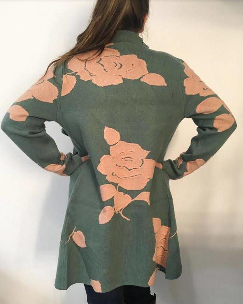 Orange Rose Cardigan
