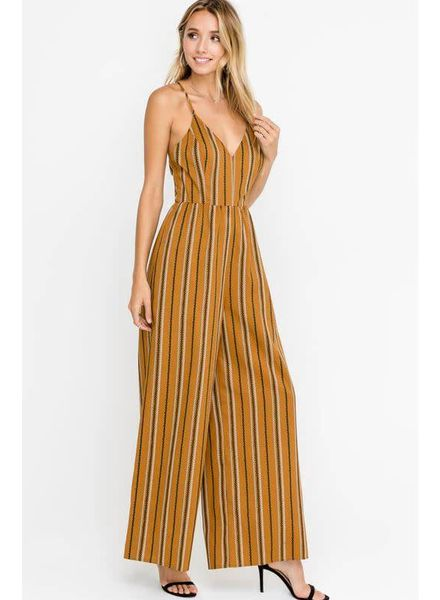LUSH Wide Leg Tunic Jumpsuit