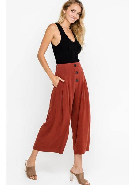 LUSH Flowy Buttoned Culottes
