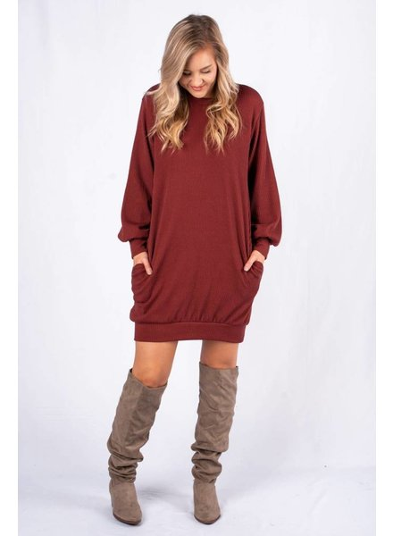 LUSH Brick Knit Dress