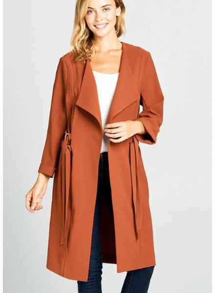 Strut & Bolt Easton Fallaway Collar Double D-Ring Duster Coat