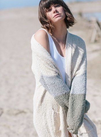 By Together Color Block Knit Cardigan