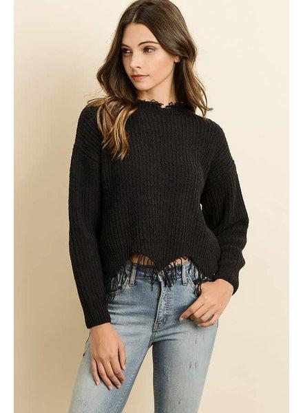 Dress Forum Distressed Knit Sweater