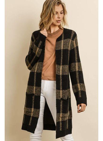 Dress Forum Plaid Sweater Cardigan