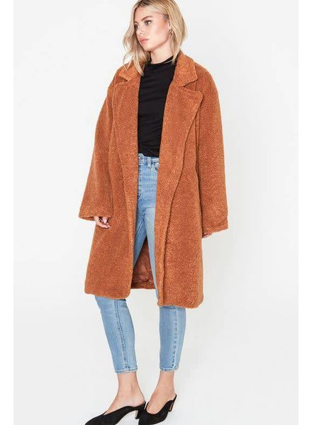 LUSH Camel Oversized Teddy Coat