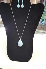 SS Blue Stone w/Earings