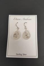 White Seaglass w/wire Earrings