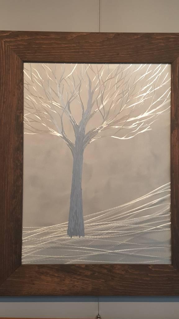 Framed Metal Tree 24x30 - The Artisans\' Gallery