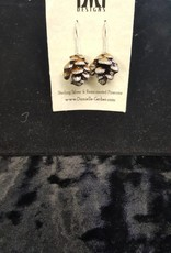Pinecone Earrings-silver tips
