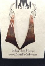 Forged Sail Dangle Earrings-Copper