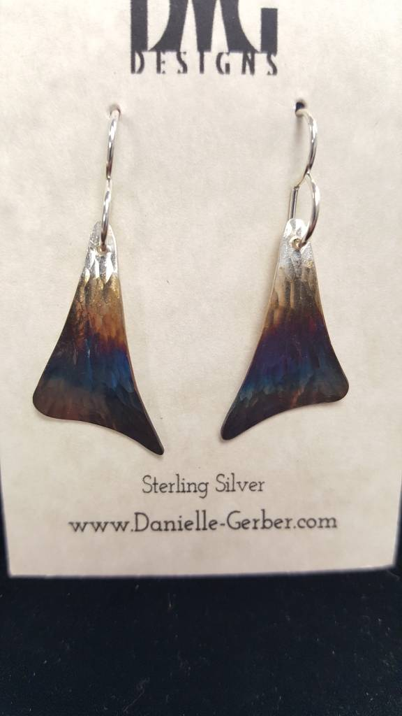 Forged Sail Dangle Earrings-Sterling Silver