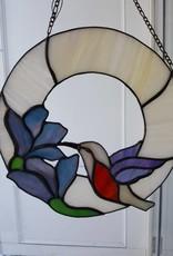 Hummingbird w/Blue Flowers
